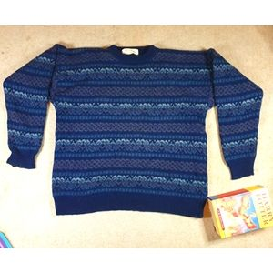 Vintage Men's XL pure wool ugly sweater jumper